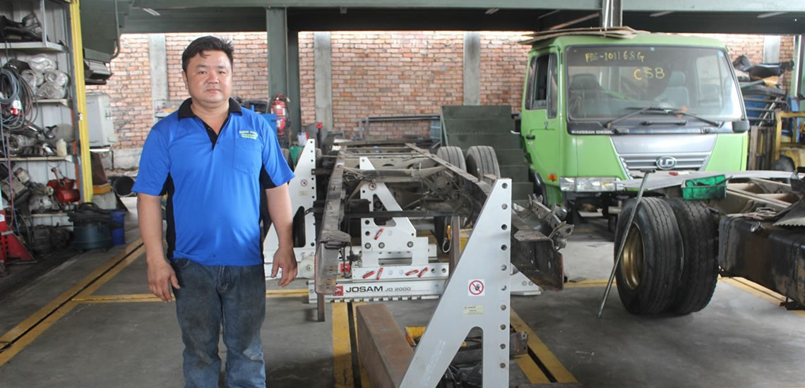 Josam Truck Frame Repair Equipment
